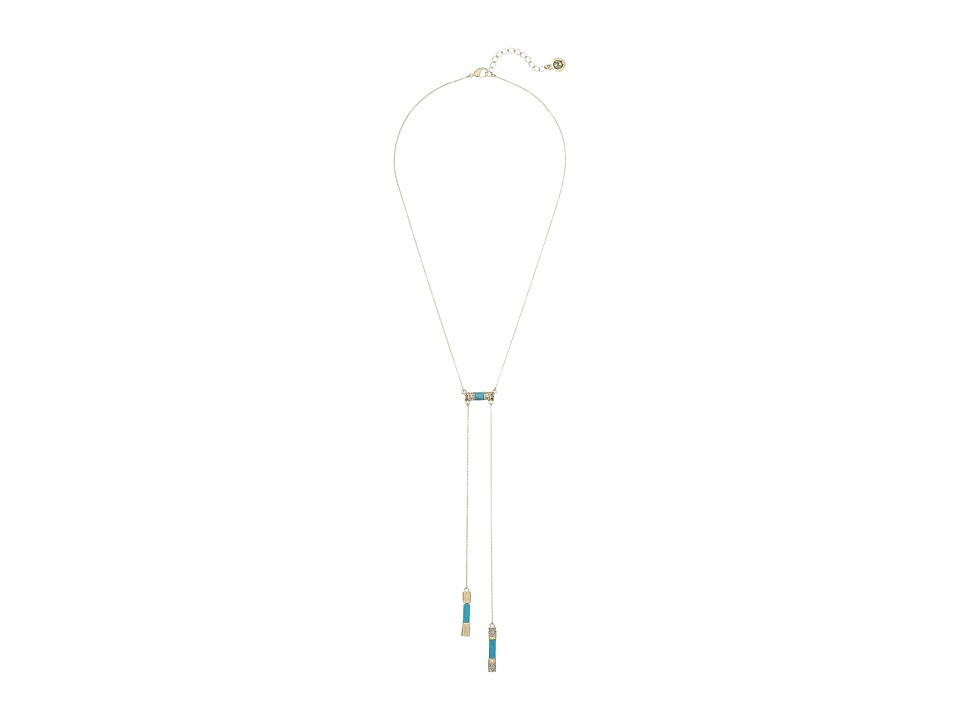 House of Harlow 1960 - Age of Antiquity Bolo Tie Necklace (Turquoise) Necklace