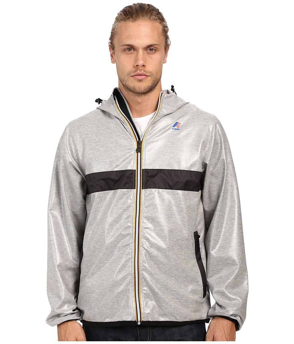 K-WAY - Claude Laminated (Hearther Grey/Black Trim) Men's Clothing
