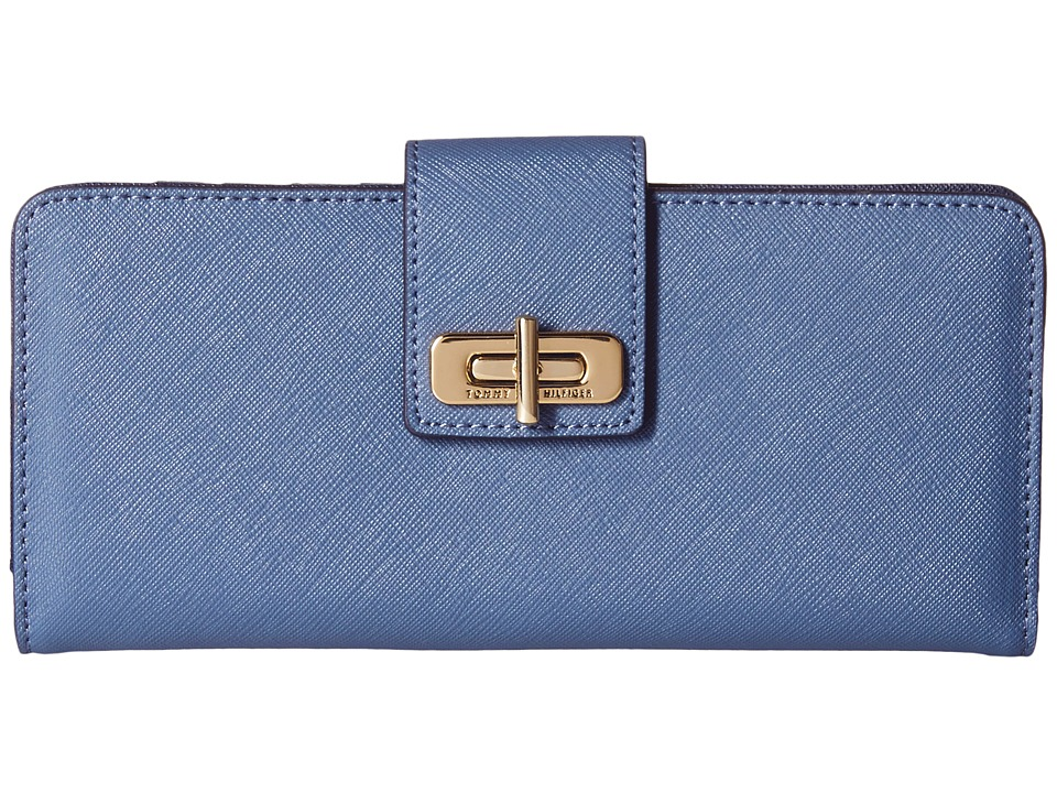 Tommy Hilfiger - Large Toggle Flap Wallet (French Blue) Checkbook Wallet