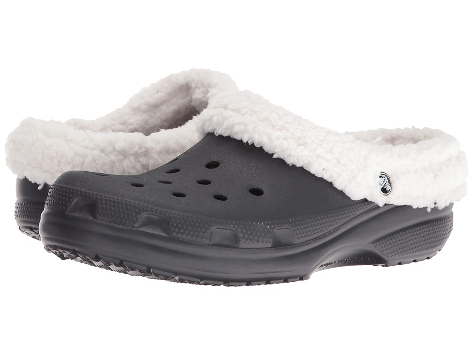 Crocs - Classic Mammoth Lined Clog (Black/Oatmeal) Clog Shoes