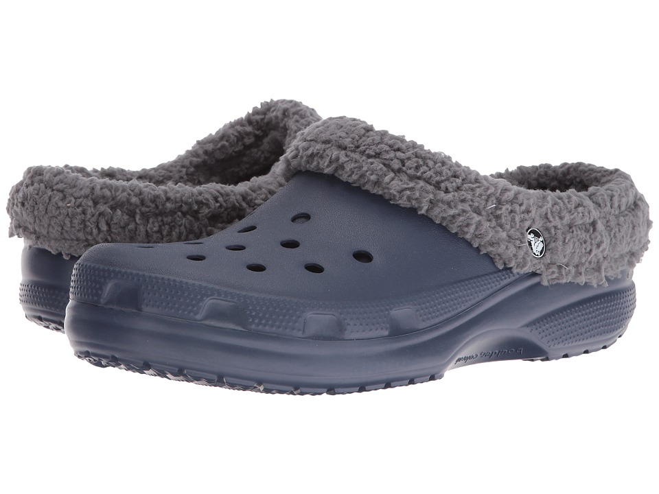 Crocs - Classic Mammoth Lined Clog (Navy/Charcoal) Clog Shoes