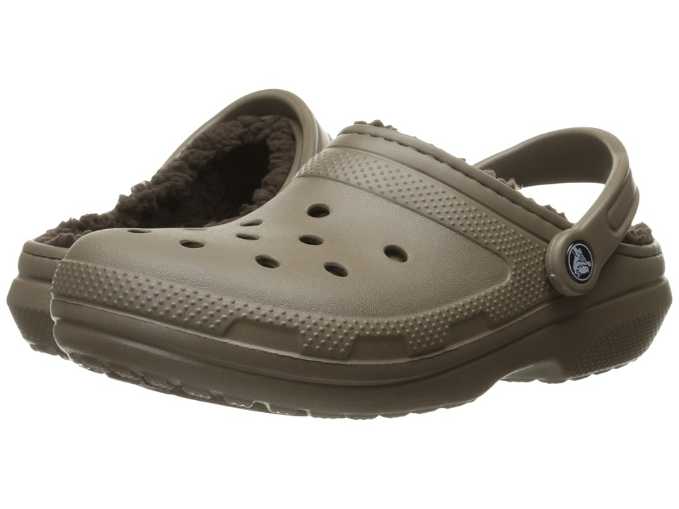 Crocs Classic Lined Clog (Walnut/Espresso) Clog Shoes
