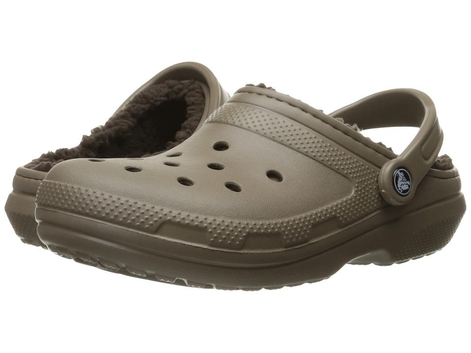 Crocs - Classic Lined Clog (Walnut/Espresso) Clog Shoes