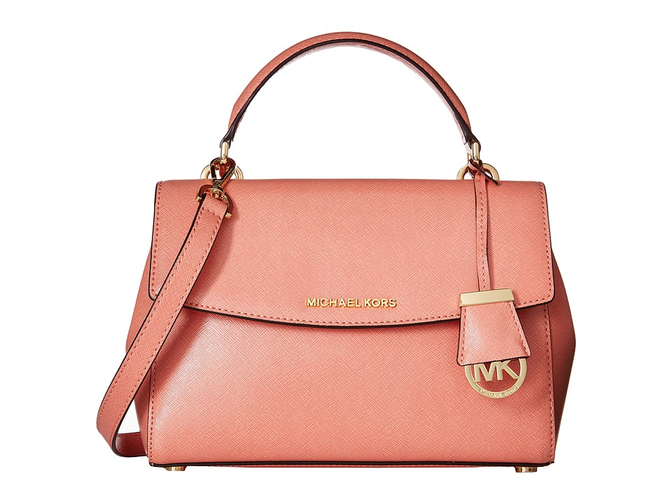 MICHAEL Michael Kors - Ava Sm Th Satchel (Peach) Satchel Handbags