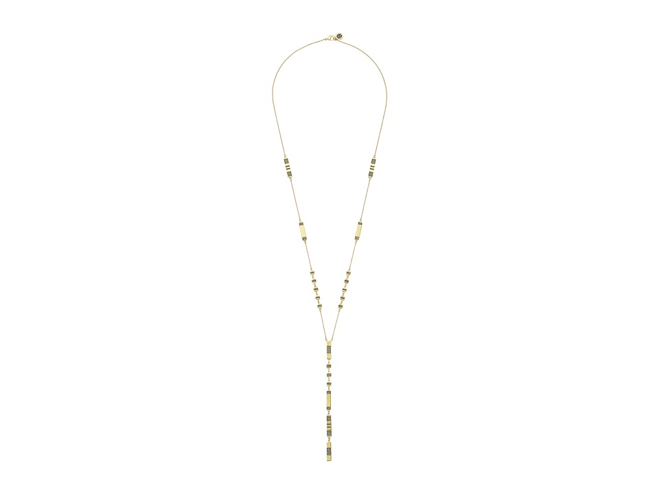 House of Harlow 1960 - Atum Pav Station Necklace (Gold) Necklace