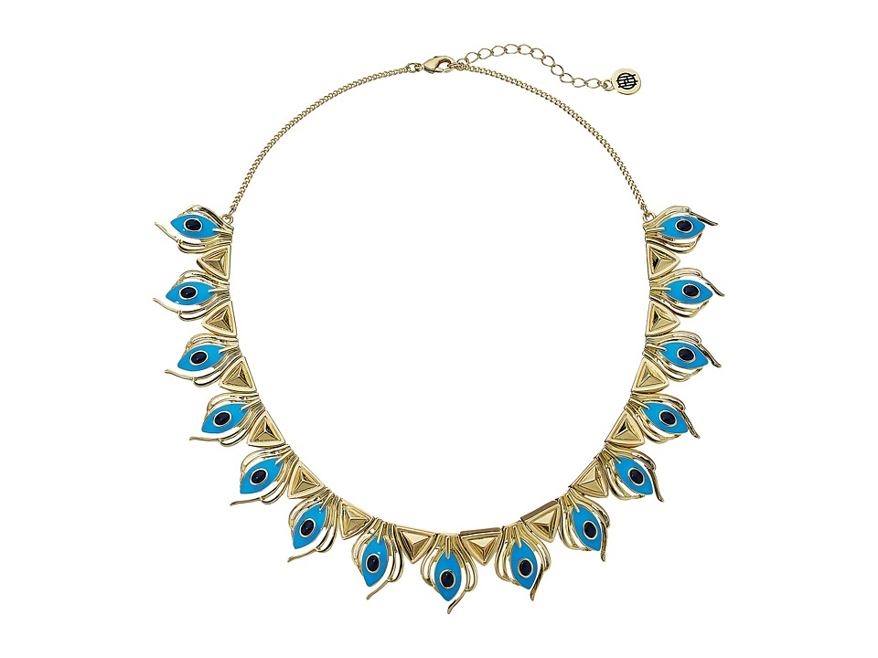 House of Harlow 1960 - Risha Collar Necklace (Turquoise) Necklace