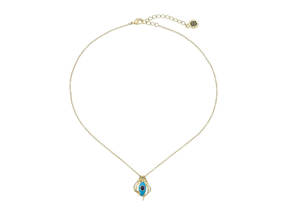 House of Harlow 1960 - Risha Pendant Necklace (Turquoise) Necklace