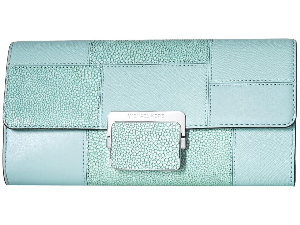 MICHAEL Michael Kors - Cynthia Large Clutch (Celadon) Clutch Handbags
