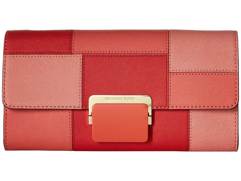 MICHAEL Michael Kors - Cynthia Lg Clutch (Pnkgrapfruit) Clutch Handbags