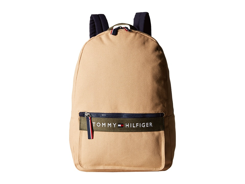 Tommy Hilfiger - TH Sport - Core Plus Backpack (Khaki/Olive/Tommy Navy) Backpack Bags