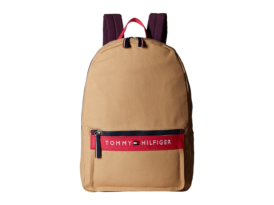 Tommy Hilfiger - TH Sport - Core Plus Backpack (Khaki/Pink/Beaujolais) Backpack Bags