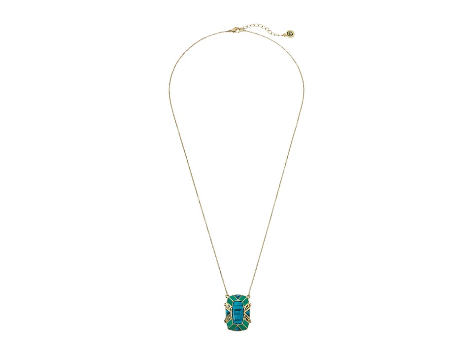 House of Harlow 1960 - Nile Delta Pendant Necklace (Turquoise) Necklace