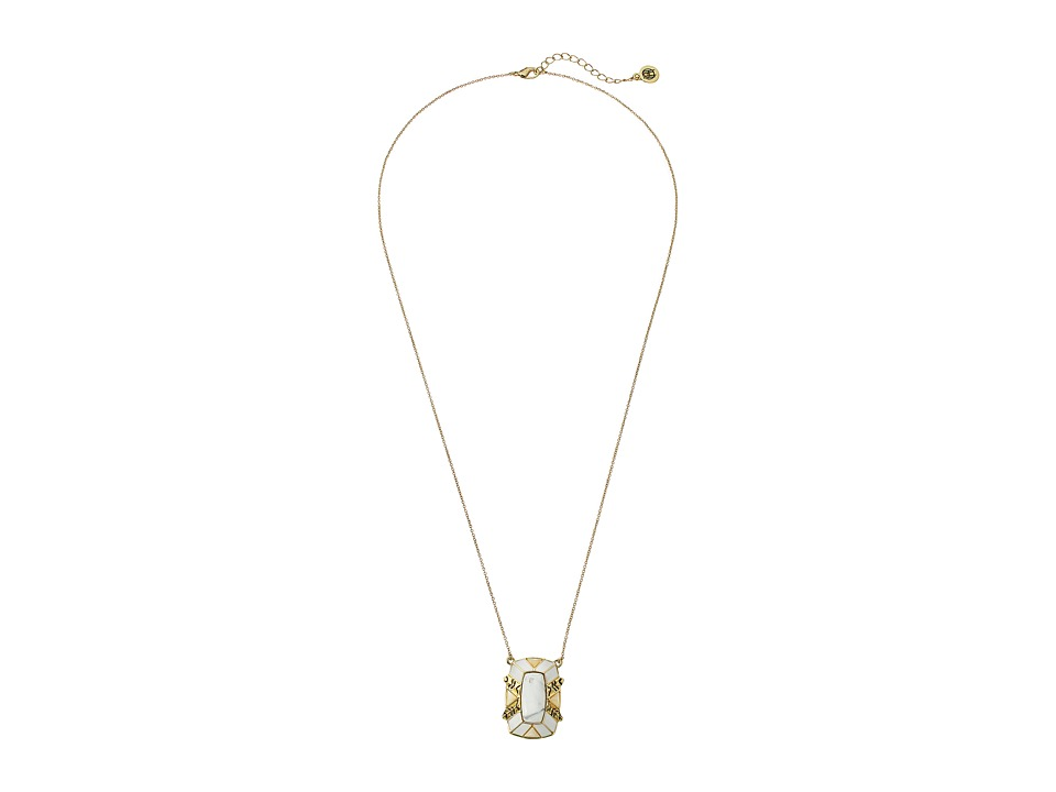 House of Harlow 1960 - Nile Delta Pendant Necklace (Howlite) Necklace