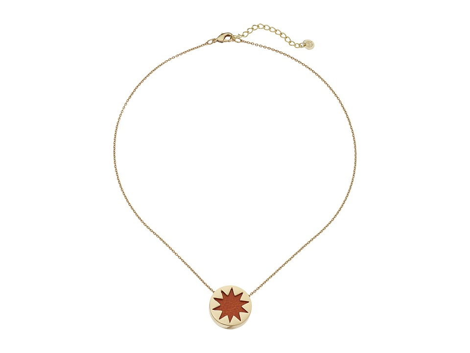 House of Harlow 1960 - Mini Sunburst Necklace (Tan) Necklace