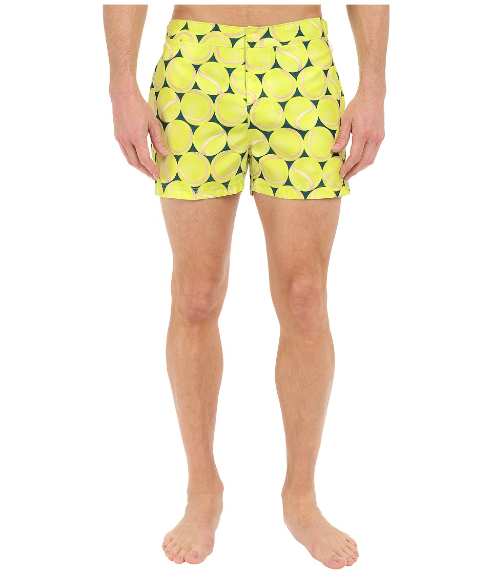 Original Penguin - Tennis Balls Fixed Box Fit (Zinnia) Men's Swimwear