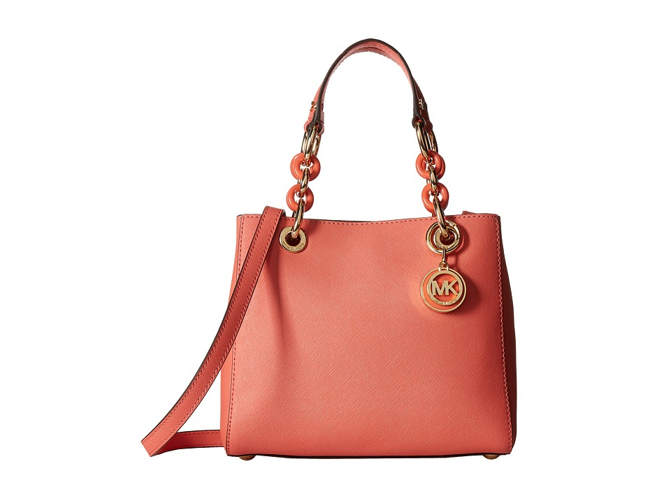 MICHAEL Michael Kors - Cynthia Small North/South Satchel (Pnkgrapfruit) Satchel Handbags