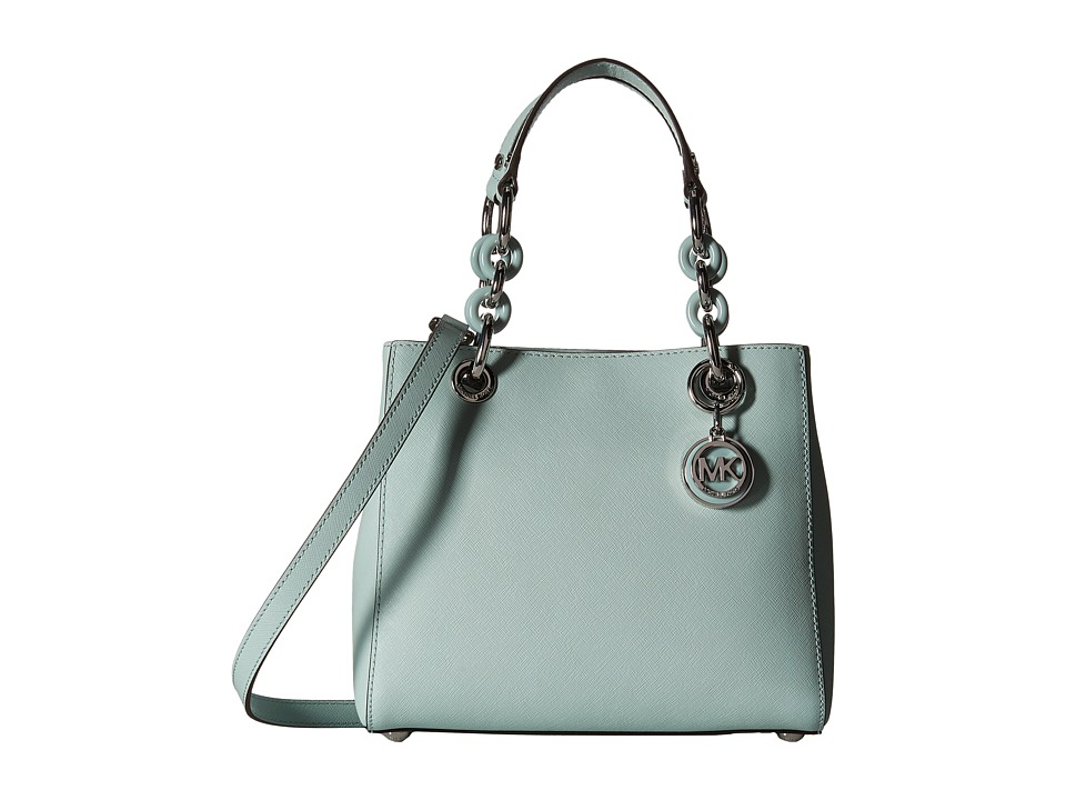 MICHAEL Michael Kors - Cynthia Small North/South Satchel (Celadon) Satchel Handbags