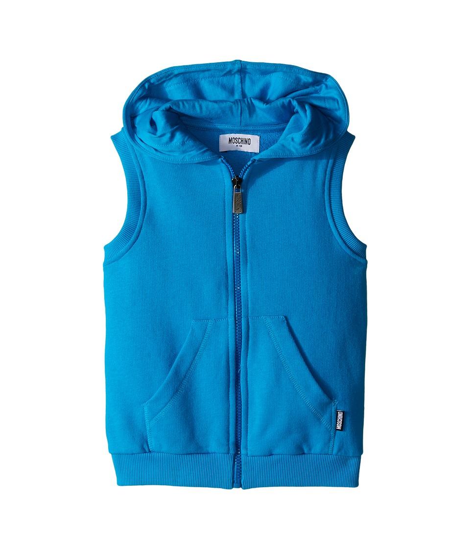 Moschino Kids - Sleeveless Hooded Sweatshirt (Little Kids/Big Kids) (Blue) Boy's Sweatshirt