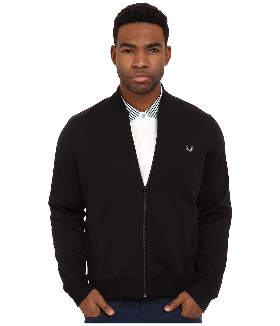 Fred Perry - Bomber Track Jacket (Black) Men's Coat
