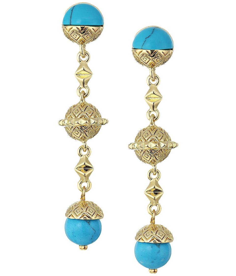 House of Harlow 1960 - Cairo Drop Earrings (Turquoise) Earring