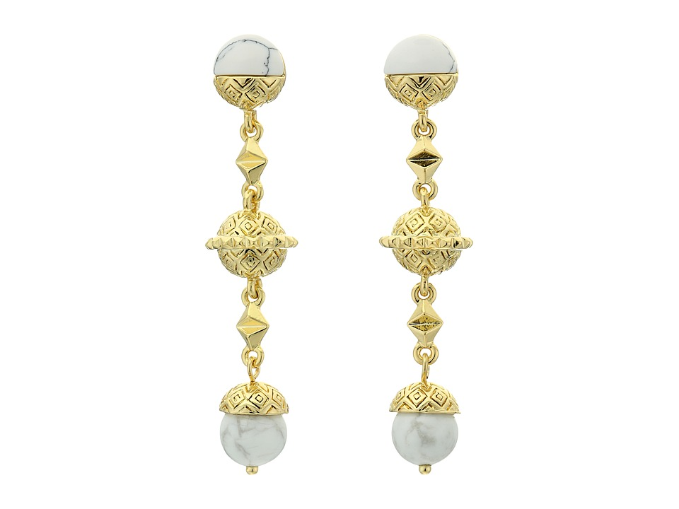 House of Harlow 1960 - Cairo Drop Earrings (Howlite) Earring