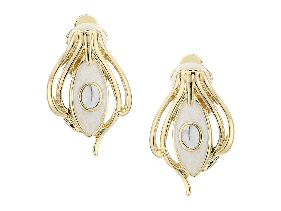 House of Harlow 1960 - Risha Clip-On Earrings (Howlite) Earring