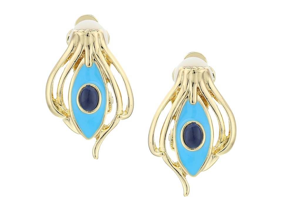 House of Harlow 1960 - Risha Clip-On Earrings (Turquoise) Earring