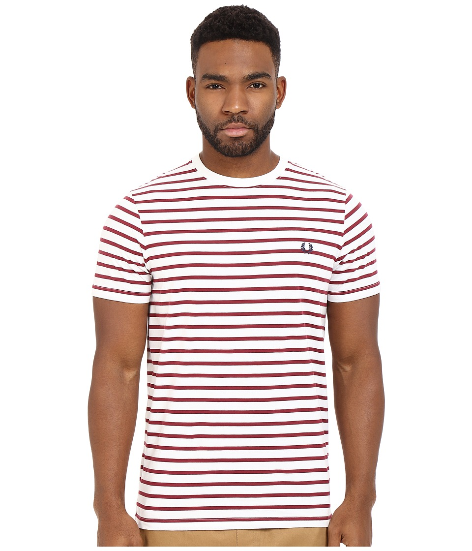 Fred Perry - Breton Stripe T-Shirt (Porcelain) Men's Short Sleeve Pullover