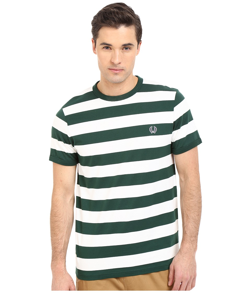 Fred Perry - Striped Sports T-Shirt (Ivy) Men's Short Sleeve Pullover