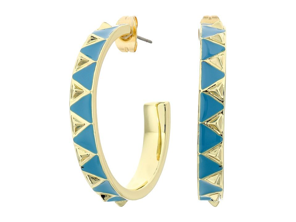 House of Harlow 1960 - Nile Delta Hoop Earrings (Turquoise) Earring