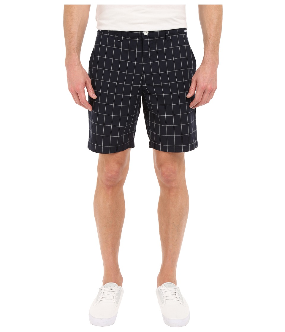 Original Penguin - Window Pane Shorts with Grosgrain (Dark Sapphire) Men