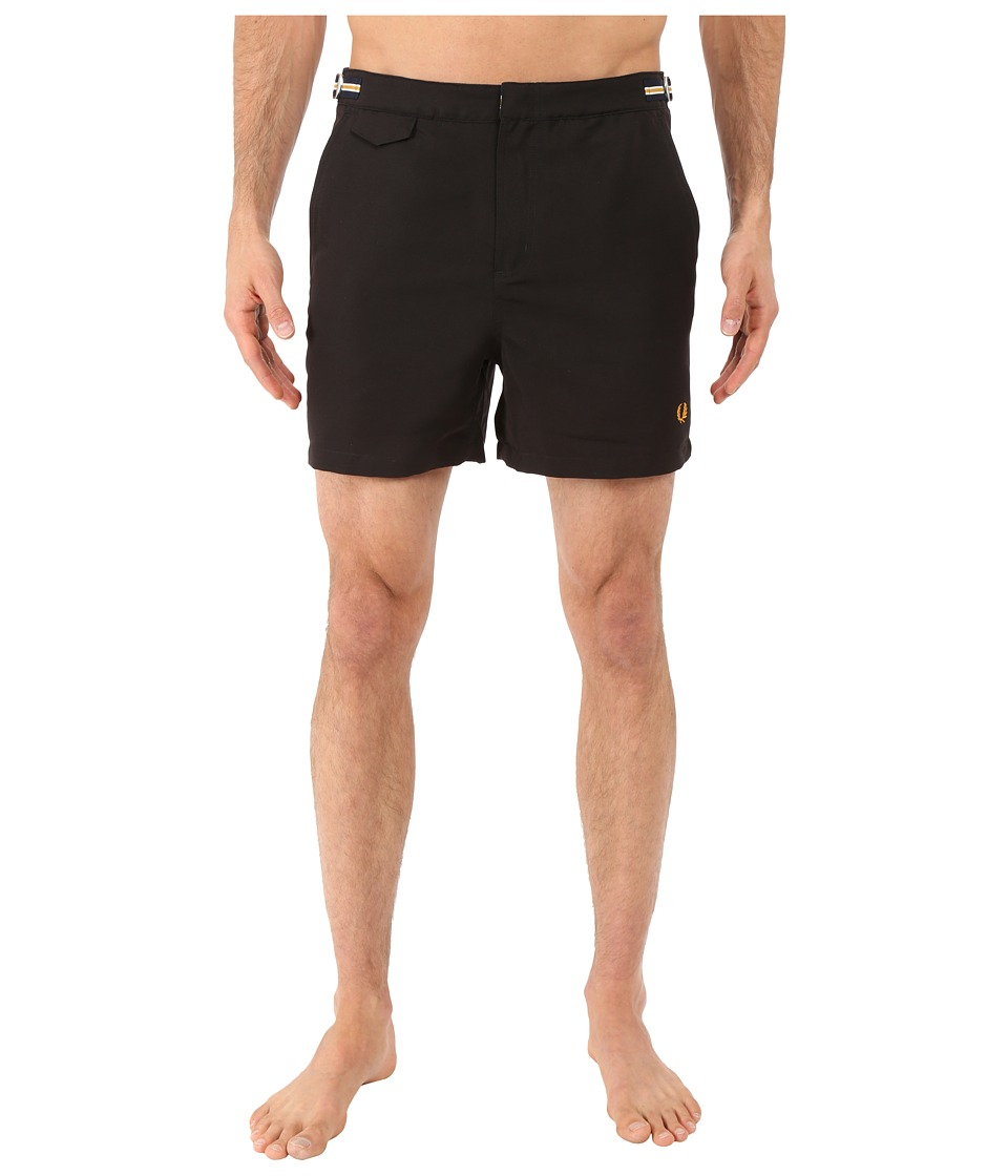 Fred Perry - Classic Swim Shorts (Black) Men's Swimwear