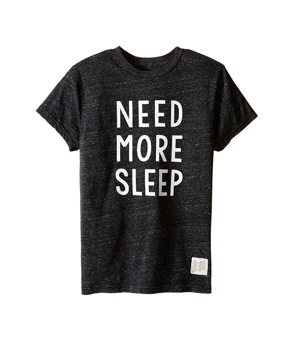 The Original Retro Brand Kids Need More Sleep Short Sleeve Tri-Blend Tee (Big Kids) (Streaky Black) Boy's T Shirt