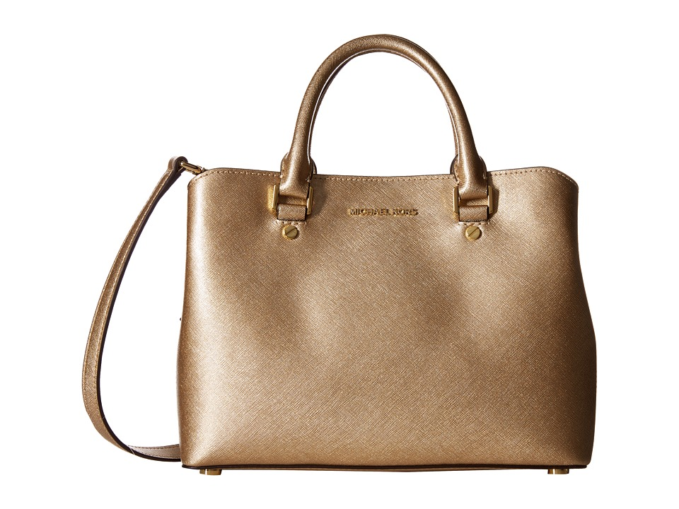MICHAEL Michael Kors - Savannah Md Satchel (Pale Gold) Satchel Handbags