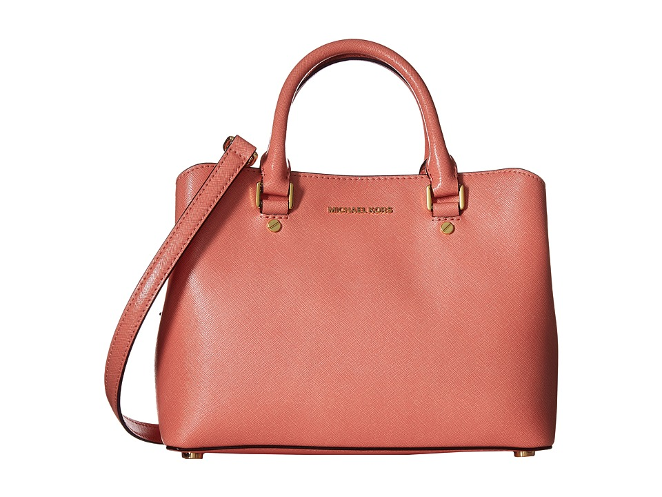 MICHAEL Michael Kors - Savannah Md Satchel (Peach) Satchel Handbags