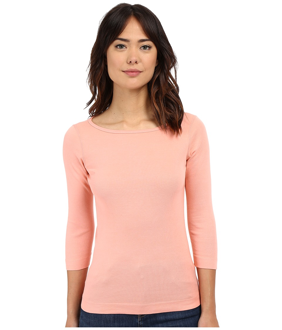 Three Dots - 3/4 Sleeve British Tee (Soft Rose) Women's Long Sleeve Pullover