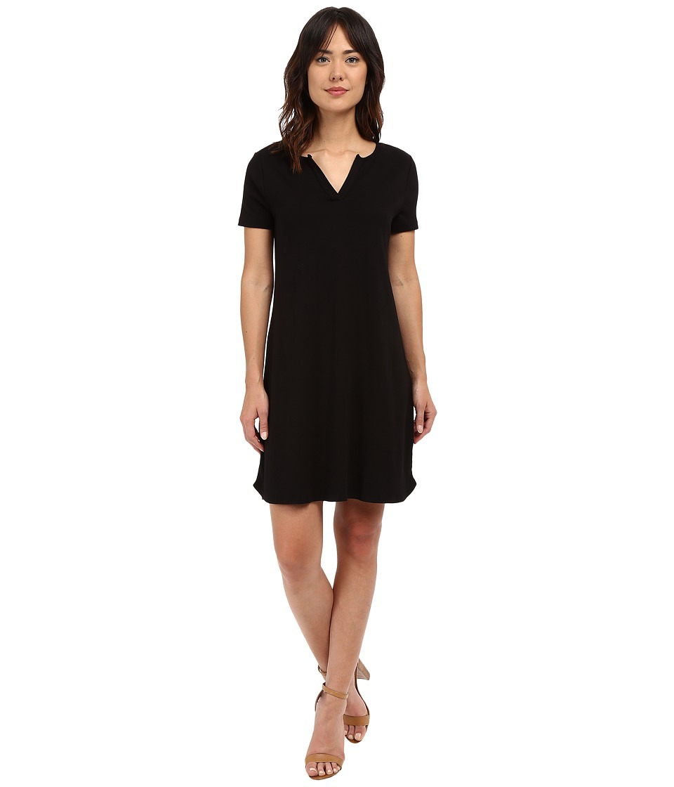 Three Dots Cheryl Short Sleeve Dress (Black) Women