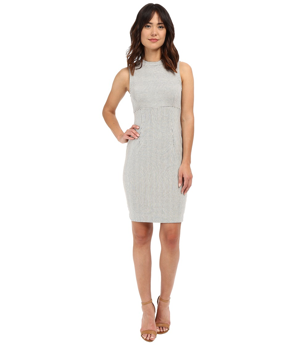 Three Dots Kristin Mock Neck Dress (Oatmeal) Women