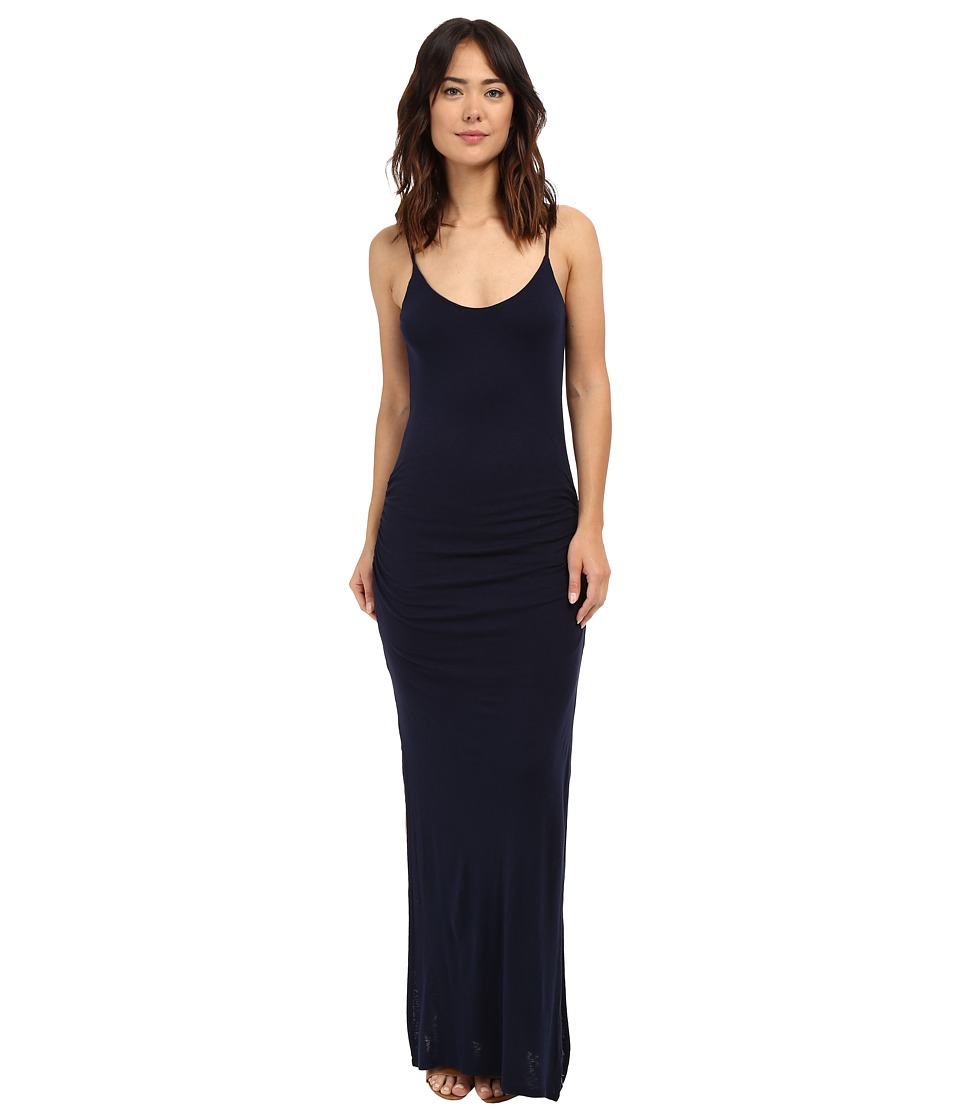 Three Dots Rosina Shirred Maxi Dress (Night Iris) Women
