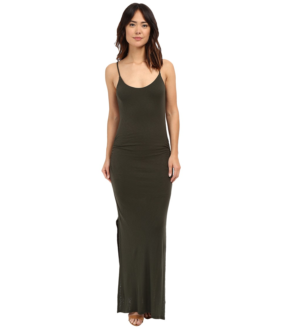 Three Dots Rosina Shirred Maxi Dress (Sweet Fern) Women