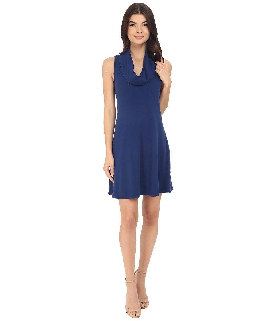 Three Dots - Cowl Neck Tank Dress (Blue Depths) Women's Dress