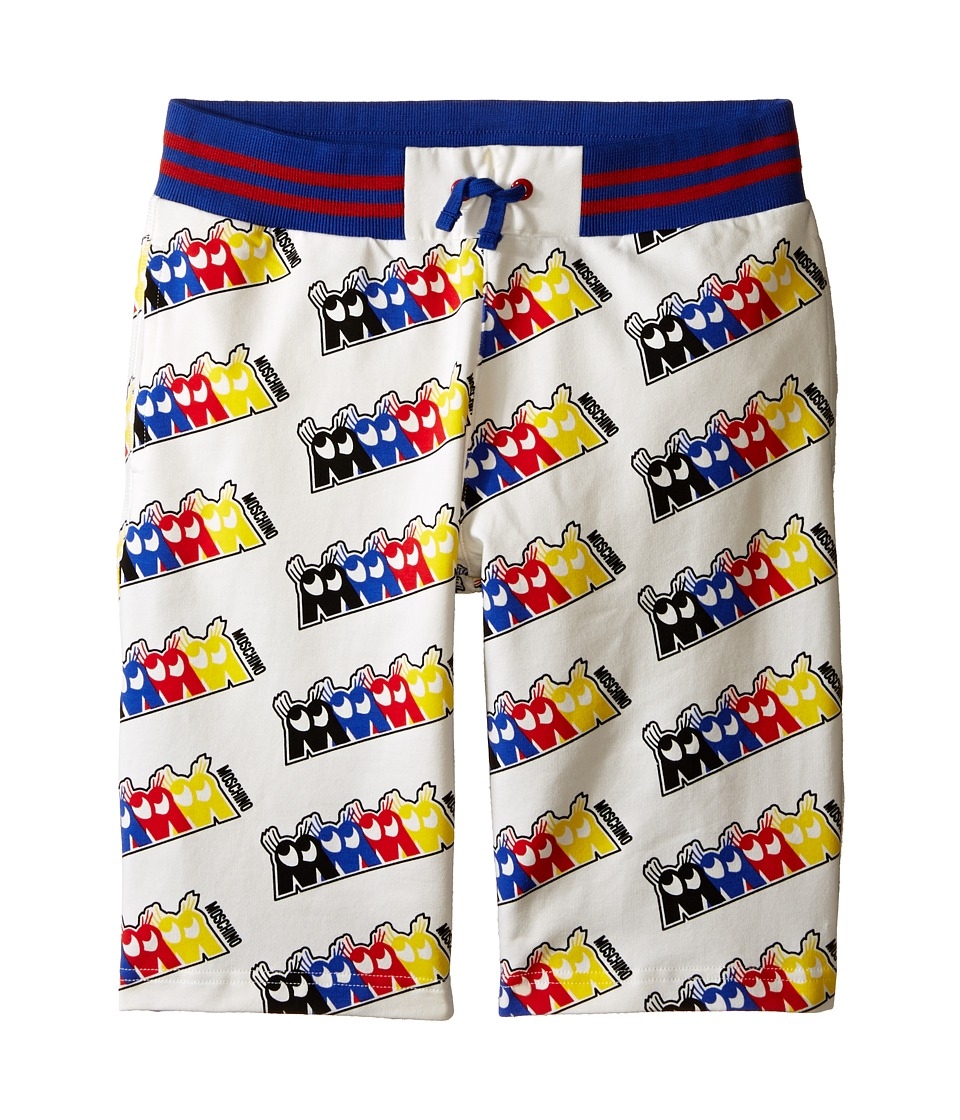 Moschino Kids - Fleece Bermuda Shorts (Big Kids) (White) Boy's Shorts