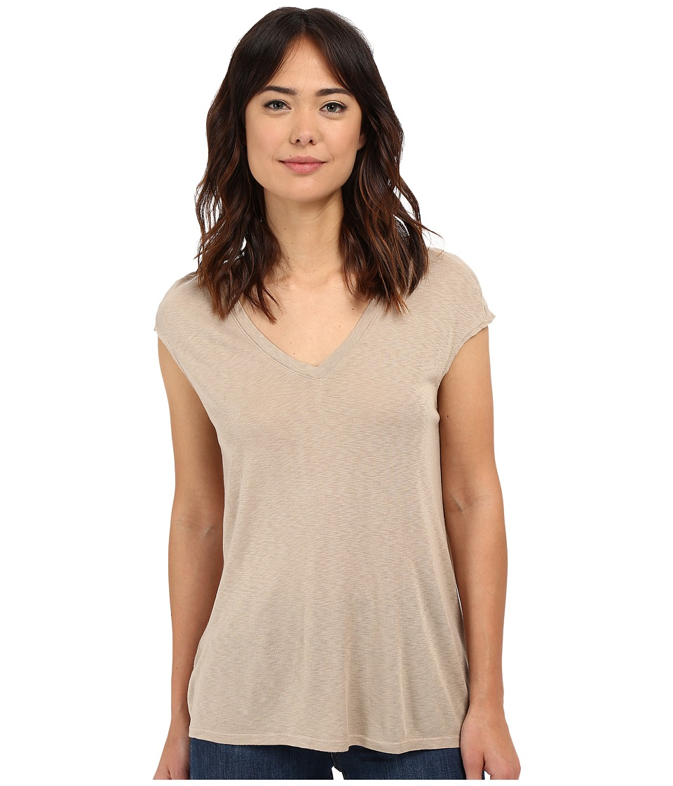 Three Dots - Hila V-Neck (Spiced Bourbon) Women's Short Sleeve Pullover