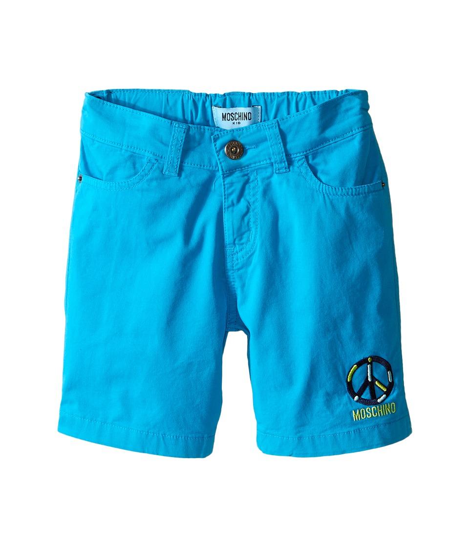 Moschino Kids - Bermuda Shorts (Little Kids/Big Kids) (Blue) Boy's Shorts