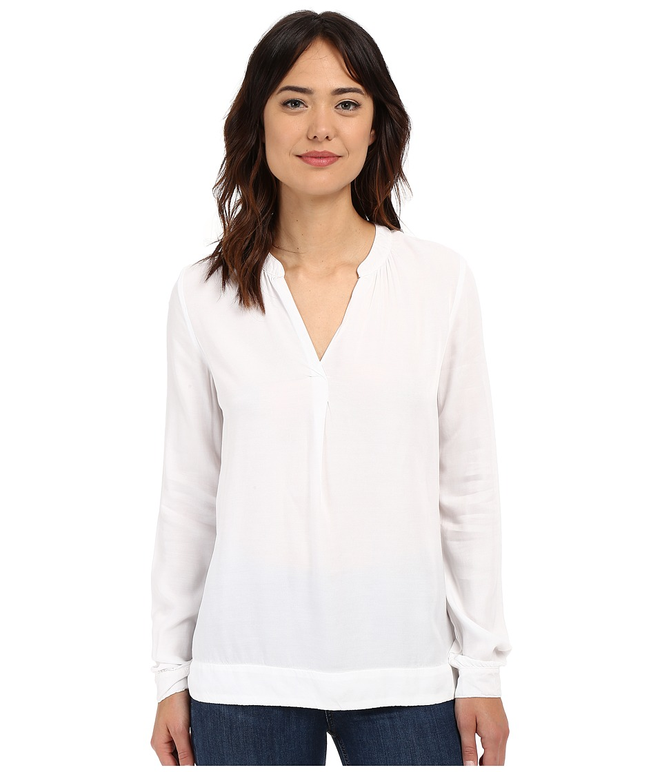 Three Dots - Katharina Long Sleeve Blouse (White) Women's Blouse