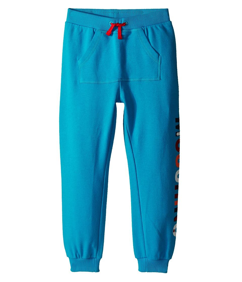 Moschino Kids - Sweatpants w/ Logo on the Side (Little Kids/Big Kids) (Blue) Boy's Casual Pants