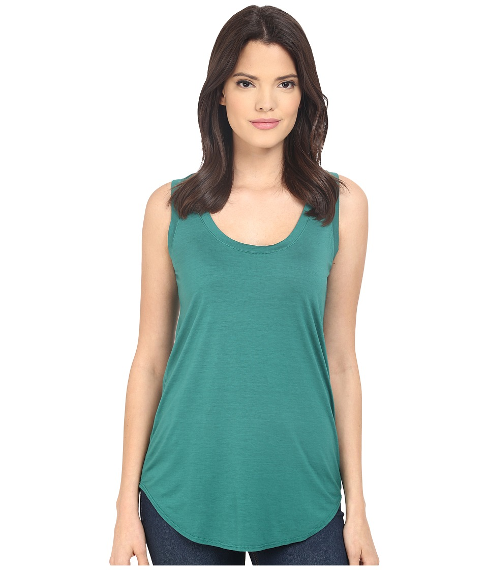 Three Dots Lightweight Viscose Long Tank (Fresh Evergreen) Women