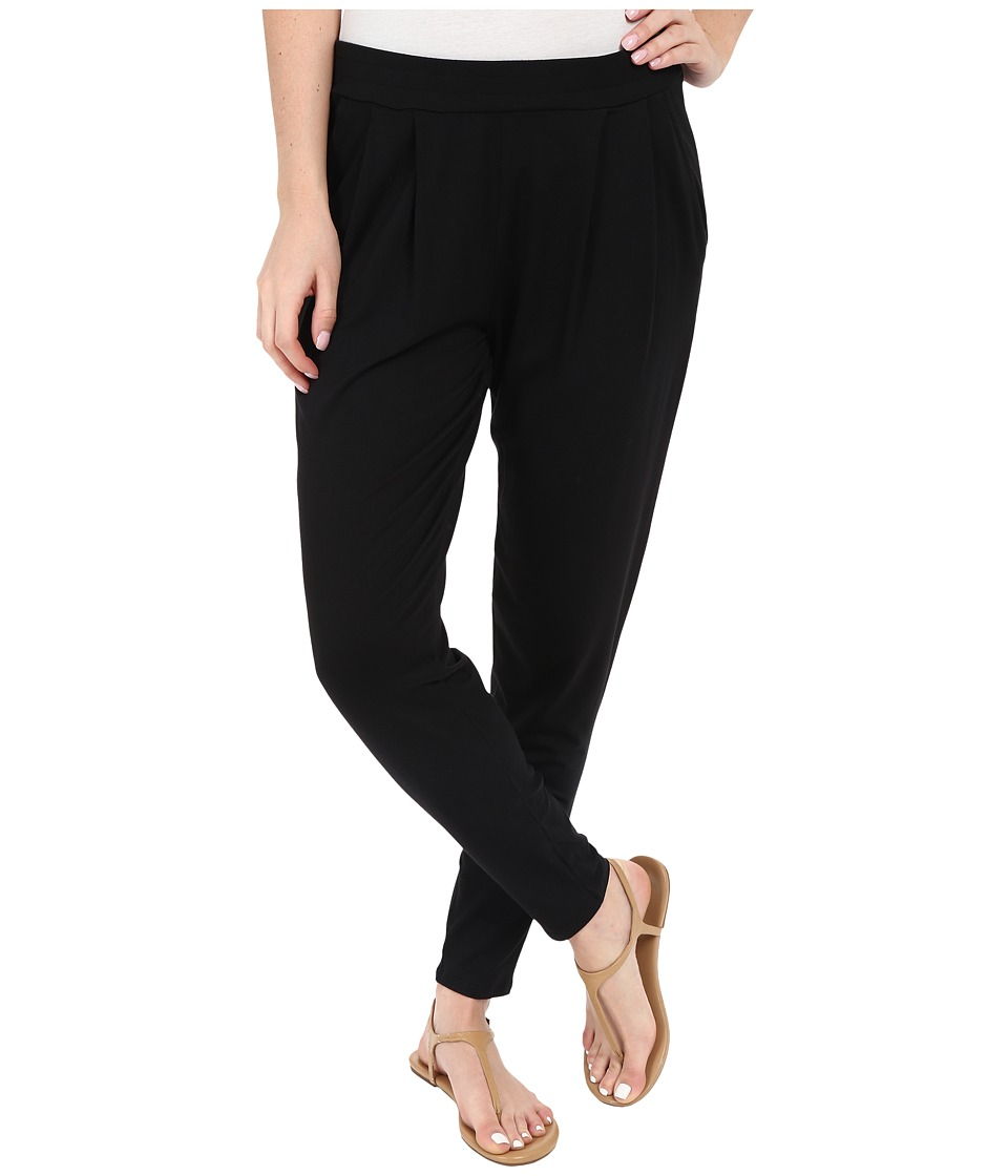 Three Dots - Lori Pleated Pants (Black) Women's Casual Pants