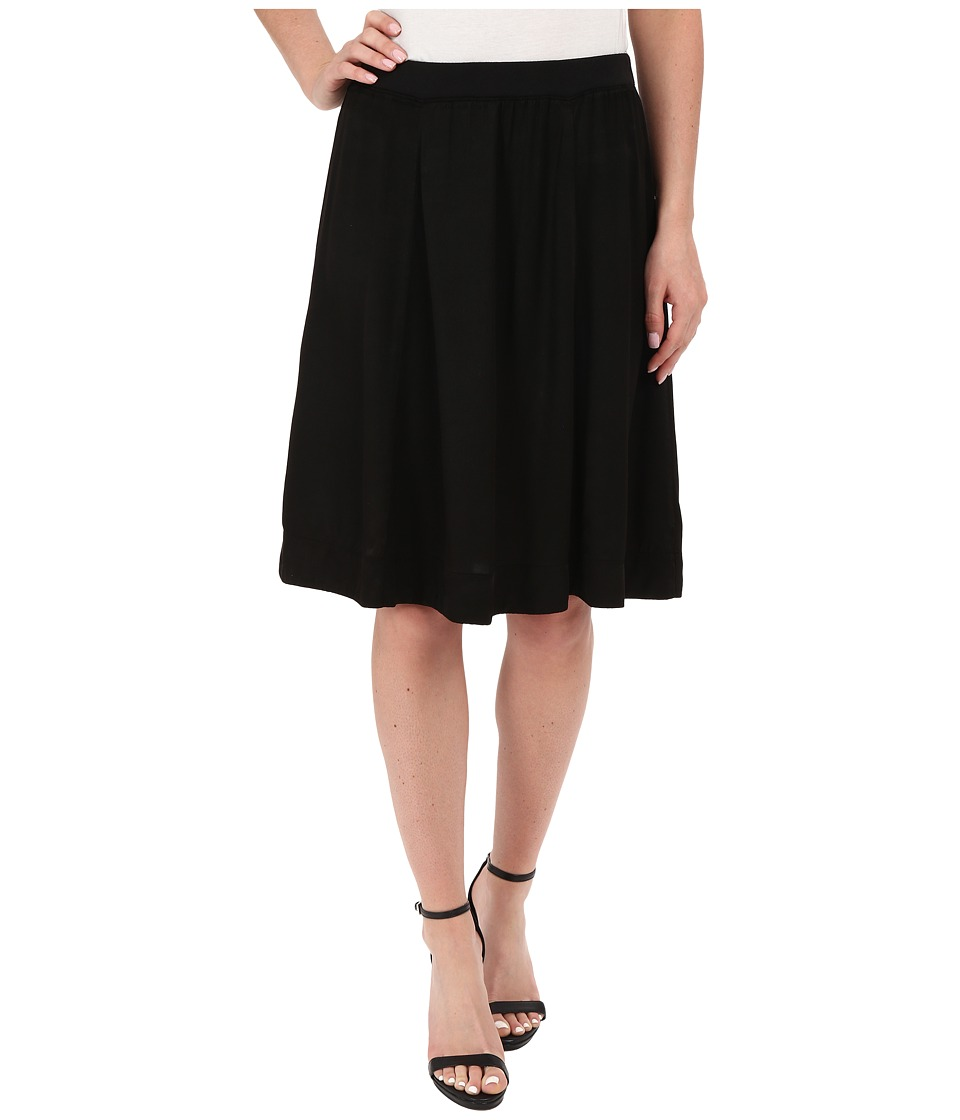 Three Dots - Rasha Seamed Skirt (Black) Women's Skirt