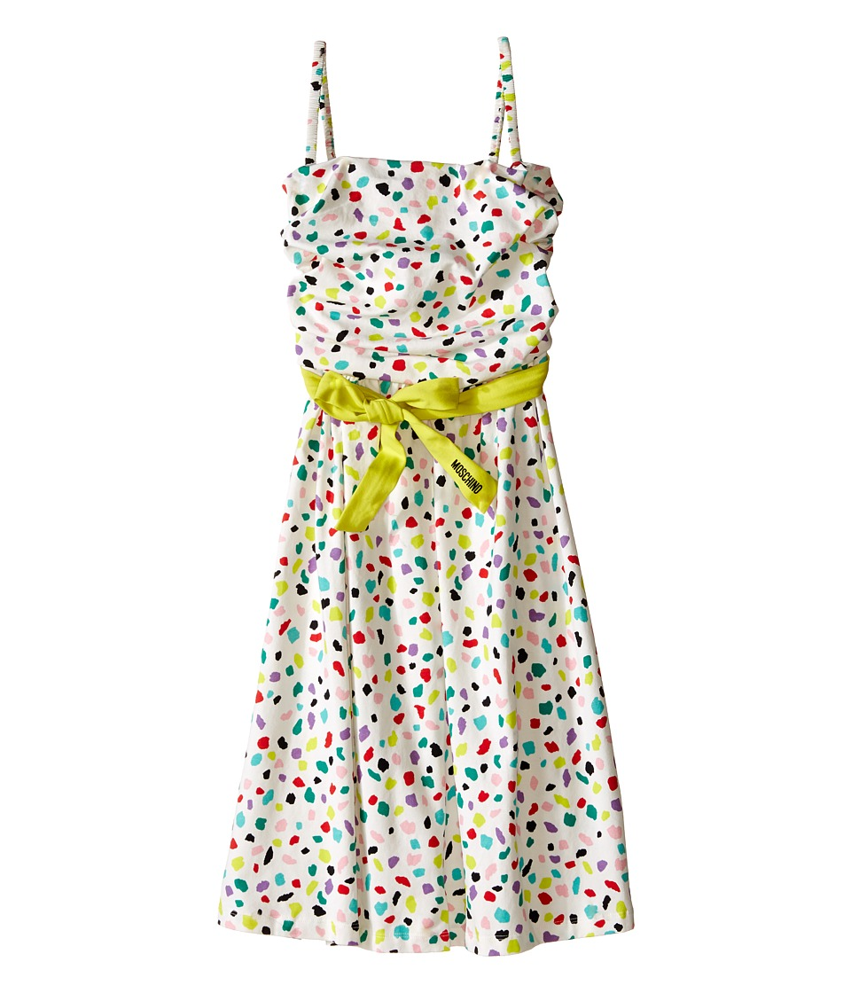 Moschino Kids - Confetti Print Dress (Big Kids) (White) Girl's Dress